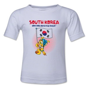 South Korea 2014 FIFA World Cup Brazil(TM) Kids Mascot Flag T-Shirt (White)