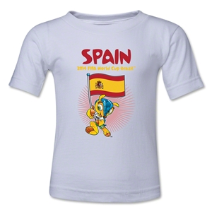 Spain 2014 FIFA World Cup Brazil(TM) Kids Mascot Flag T-Shirt (White)