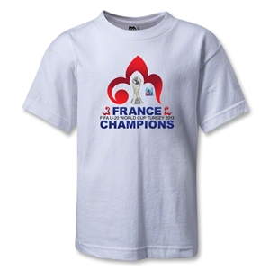 France FIFA U-20 World Cup 2013 Winners Kids T-Shirt (White)