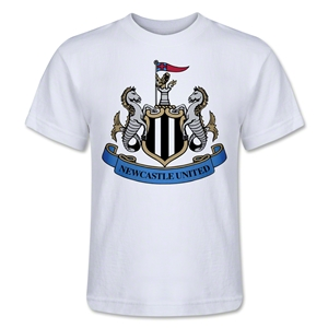 Newcastle United Crest Kids T-Shirt (White)
