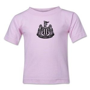 Newcastle United Distressed Kids T-Shirt (Pink)