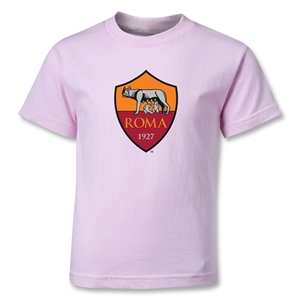 AS Roma Crest Kids T-Shirt (Pink)