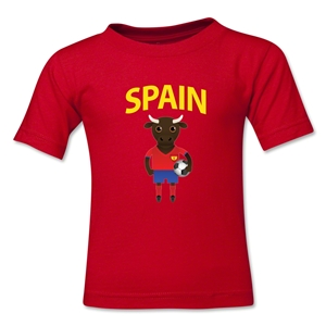 Spain Animal Mascot Kids T-Shirt (Red)