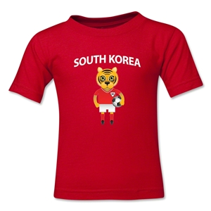 South Korea Animal Mascot Kids T-Shirt (Red)