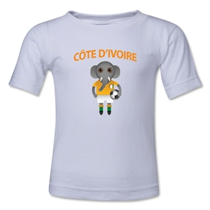 Cote d'Ivoire Animal Mascot Kids T-Shirt (White)