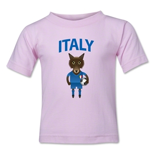 Italy Animal Mascot Kids T-Shirt (Pink)