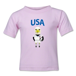 USA Animal Mascot Kids T-Shirt (Pink)