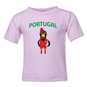 Portugal Animal Mascot Kids T-Shirt (Pink)