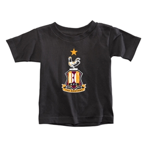 Bradford City Toddler Crest T-Shirt (Black)
