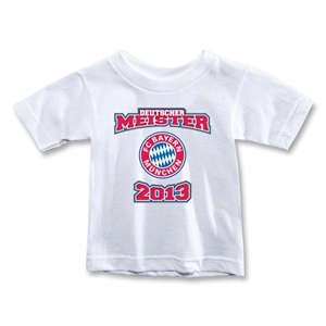 Bayern Munich 2013 Toddler Deutscher Meister T-Shirt (White)