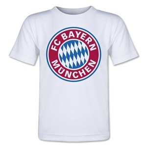Bayern Munich Logo Toddler T-Shirt (White)