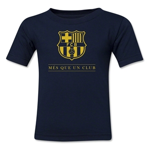 Barcelona Mes Que Un Club Toddler T-Shirt (Navy)