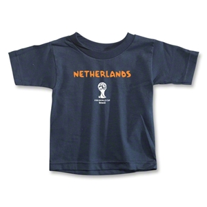 Netherlands 2014 FIFA World Cup Brazil(TM) Toddler Core T-Shirt (Navy)