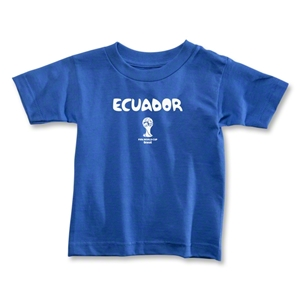 Ecuador 2014 FIFA World Cup Brazil(TM) Toddler Core T-Shirt (Royal)