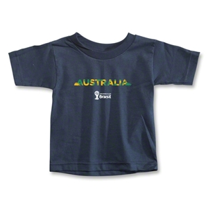 Australia 2014 FIFA World Cup Brazil(TM) Toddler Palm T-Shirt (Navy)