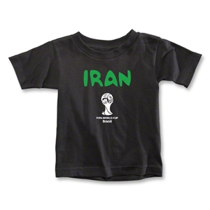 Iran 2014 FIFA World Cup Brazil(TM) Toddler Core T-Shirt (Black)