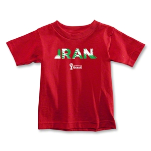 Iran 2014 FIFA World Cup Brazil(TM) Toddler Palm T-Shirt (Red)