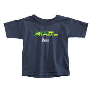 Brazil 2014 FIFA World Cup Brazil(TM) Toddler Palm T-Shirt (Navy)