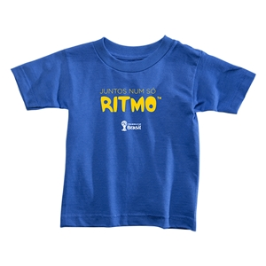 2014 FIFA World Cup Brazil(TM) Toddler Portugese All In One Rhythm T-Shirt (Royal)