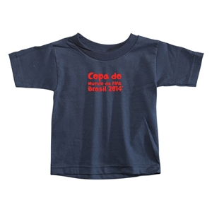 2014 FIFA World Cup Brazil(TM) Toddler Portugese Logotype T-Shirt (Navy)