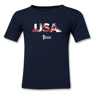 USA 2014 FIFA World Cup Brazil(TM) Toddler Palm T-Shirt (Navy)