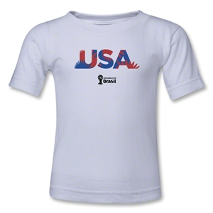 USA 2014 FIFA World Cup Brazil(TM) Toddler Palm T-Shirt (White)