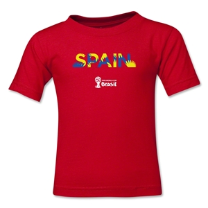 Spain 2014 FIFA World Cup Brazil(TM) Toddler Palm T-Shirt (Red)