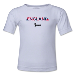 England 2014 FIFA World Cup Brazil(TM) Toddler Palm T-Shirt (White)