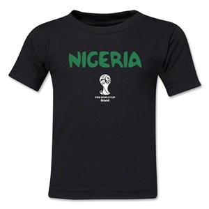 Nigeria 2014 FIFA World Cup Brazil(TM) Toddler Core T-Shirt (Black)