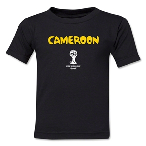 Cameroon 2014 FIFA World Cup Brazil(TM) Toddler Core T-Shirt (Black)
