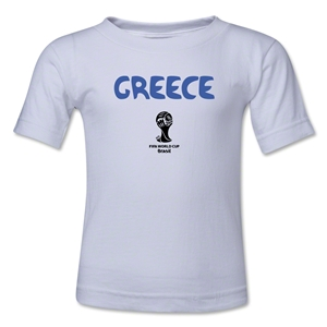 Greece 2014 FIFA World Cup Brazil(TM) Toddler Core T-Shirt (White)