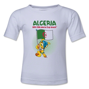 Algeria 2014 FIFA World Cup Brazil(TM) Toddler Mascot Flag T-Shirt (White)