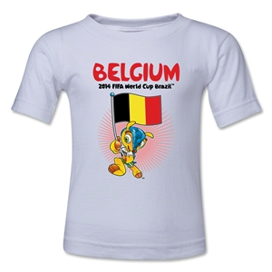 Belgium 2014 FIFA World Cup Brazil(TM) Toddler Mascot Flag T-Shirt (White)