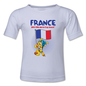 France 2014 FIFA World Cup Brazil(TM) Toddler Mascot Flag T-Shirt (White)
