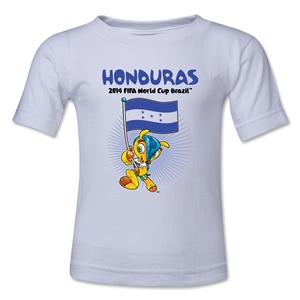 Honduras 2014 FIFA World Cup Brazil(TM) Toddler Mascot Flag T-Shirt (White)
