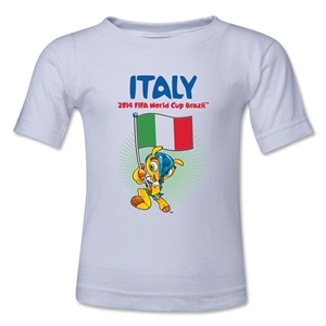 Italy 2014 FIFA World Cup Brazil(TM) Toddler Mascot Flag T-Shirt (White)