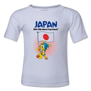Japan 2014 FIFA World Cup Brazil(TM) Toddler Mascot Flag T-Shirt (White)