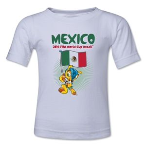 Mexico 2014 FIFA World Cup Brazil(TM) Toddler Mascot Flag T-Shirt (White)