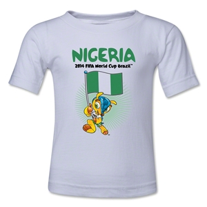 Nigeria 2014 FIFA World Cup Brazil(TM) Toddler Mascot Flag T-Shirt (White)