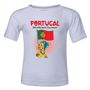 Portugal 2014 FIFA World Cup Brazil(TM) Toddler Mascot Flag T-Shirt (White)