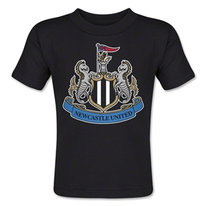 Newcastle United Crest Toddler T-Shirt (Black)
