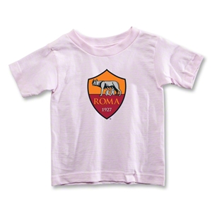 AS Roma Crest Toddler T-Shirt (Pink)