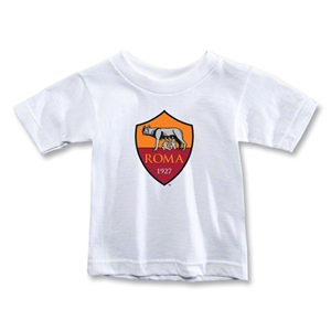 AS Roma Crest Toddler T-Shirt (White)