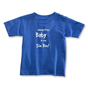 Nobody Puts Baby In the Sin Bin Toddler T-Shirt (Royal)