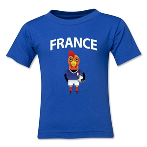 France Animal Mascot Toddler T-Shirt (Royal)