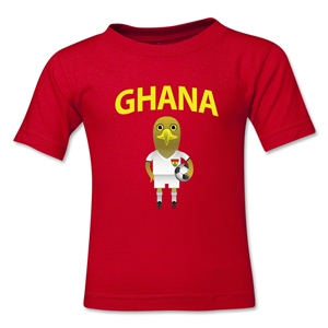 Ghana Animal Mascot Toddler T-Shirt (Red)