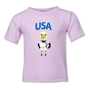 USA Animal Mascot Toddler T-Shirt (Pink)