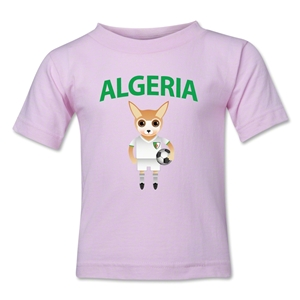 Algeria Animal Mascot Toddler T-Shirt (Pink)