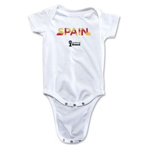 Spain 2014 FIFA World Cup Brazil(TM) Palm Onesie (White)