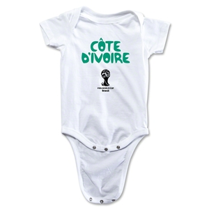 Cote d'Ivoire 2014 FIFA World Cup Brazil(TM) Core Onesie (White)